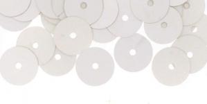 YB52b / Lamedad kettakujulised plastlitrid , siidja läikega hõbedased / ø10mm