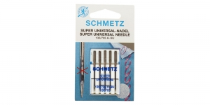 Super Universal home sewing machine needles, Schmetz No.100