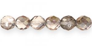 LG70 Ümar tahuline klaaspärl, Tšehhi, 12mm, Läbipaistev hall beezi kattega