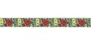 Lillekimpudega dekoratiivpael, laiusega 15 mm, värv 2B NATURALE, Art. 22109