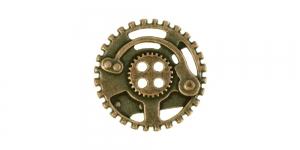 Antiikpronksjas, nelja auguga metallnööp, 30mm/48L, SF142