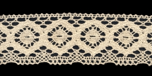 Cotton Crochet Lace 1820-58, 6,5 cm