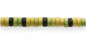 IM26 8x4mm Värvisegu lakitud rõngakujuline puithelmes ca. 50tk kmpl