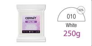 Voolimismass, polümeersavi, Cernit 250 g, OPALINE, PORCELAIN WHITE 010