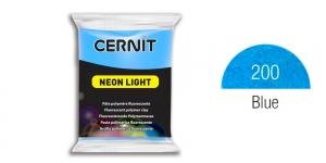 Polymer clay Fluorescent, Neon, Cernit, 56g, Blue 200