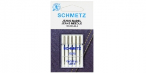 Jeans Needles for Home Sewing Machines, Schmetz No.90