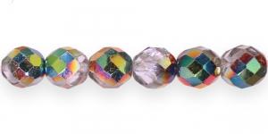 LG67 Ümar tahuline klaaspärl, Tšehhi, 12mm, Kirgas läbipaistev 1/3 AB-läikega