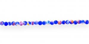 KM69 4mm Koobaltsinine Kirju millefiori pärlisegu