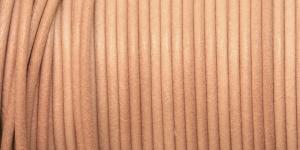 Nahkanyöri, aitoa nahkaa, ø3 mm, väri: luonnonnahkaa, EG0046