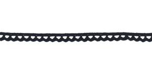 Puuvillane pits 3840-14 laiusega 1 cm, värv must