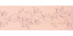 Jacquard satin ribbon, Art.64968, color No. Powder