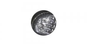 SG68 ø12 mm Must hõbedase mustriga plastiknööp