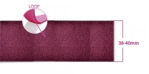 Sew on LOOP tape 38 - 40 mm, burgundy red