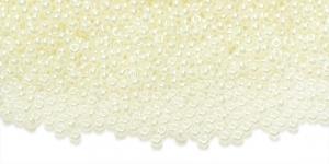 HK51 Tšehhi Preciosa terahelmed, Nr.11 (2-2.2mm), Kollakasvalged pärlmutter terahelmed