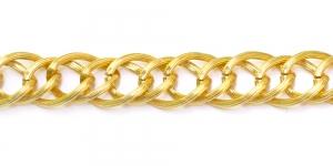 Alumiiniumkett Kuldne 17 x 14 x 2,5 mm, MA68