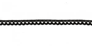 Puuvillane pits 3174-14 laiusega 0,8 cm, värv must