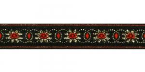 Lilleõitega dekoratiivpael, laiusega 26 mm, värv 2, Art. 4070L