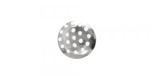 Ehtesõel Hõbedane, Silver Circular Brooch Base, 13mm, EB31