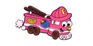 AB65 Roosa tuletõrjeauto Pink Fire Engine 10 x 6,5 cm