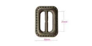 Plastpannal 40 x 30 mm rihmale laiusega 25 mm, vana messingu läige