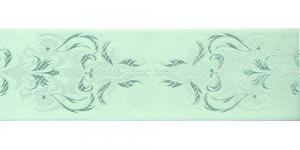 Jacquard koristenauha 64mm, Art.64969, väri vaaleanvihreä