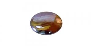 KM133 18x13x4mm Pruun, lameda põhjaga klaashelmes