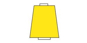 Peenike tekstureeritud niit, 10.000 m, Nr.180, Polytex, Värv: puhas kollane 125
