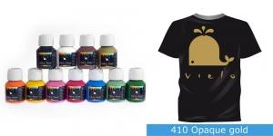 Kattev värv kanga värvimiseks pintsli, tampooni jms abil, Fabric Paint Opaque, 50 ml, Vielo, Värv: kuldne, #410 Opaque gold