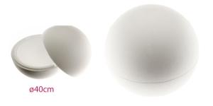 2-poolne avatav penoplastist e. stüroksist pall ø40cm, KL1346