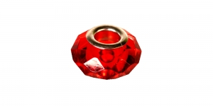KL21 15x9mm Punane, hõbedane, lapik pandora tüüpi metallhelmes