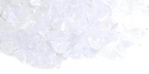 LN2 13x9mm Värvitu läbipaistev lillekujuline klaashelmes