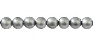 Hõbehall pärlmutter läbipaistmatu ümar plasthelmes, 6mm, BL34