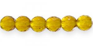Ümar tahuline klaaspärl, Tšehhi, 14mm, Karamellipruun läbipaistev, LO10