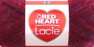 Siidjalt pehme akrüüllõng Lacie, Red Heart, värv nr. 1, tumepunane