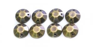 WB13 12mm Antiikpronks, ümar dekoraatiivkivi, 8tk