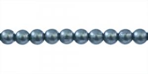Tume sinakas-rohekas hall pärlmutter ümar plasthelmes, 5mm, BO1a