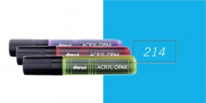 Akrüülvärviga viltpliiats, katva värviga, 15mm, 25ml, Darwi Acryl Opaque, SKY BLUE 214