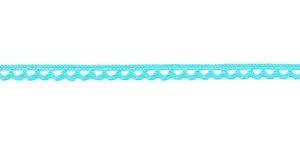 Puuvillane pits 3174-15 laiusega 0,8 cm, värv türkiissinine
