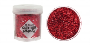 Glitter powder (1x1mm flakes), 50g, red, Trimits GL23