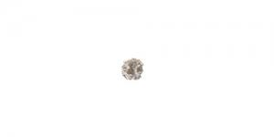 Vahedetail Hõbedane värvitute kivikestega / 6mm / EN148