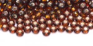 Terahelmed, seemnehelmed, Nr.5 (4,3-4.8mm), Preciosa Tumepruunid hõbedase, läikiva kandilise auguga HD18