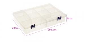 Säilituskarp, PP plastik, 12 lahtrit, 29,5x20x6cm, KL1307