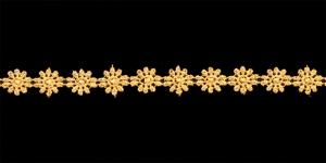 Lillepael laiusega 1,3cm / Värv Kuldkollane A3