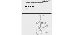 Kasutusjuhend / Käyttöohjekirja FIN Juki MO-1000 (myydään vain konekaupan yhteydessa)