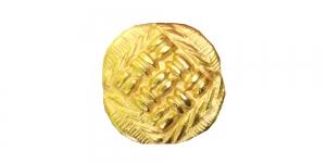 SF13 Metallist kuldne põimingumustriga nööp 23mm/28