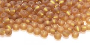 Terahelmed, seemnehelmed, Nr.5 (4,3-4.8mm), Preciosa Kuldbeež läbipaistev matt hõbedased, läikivad auguga HC19