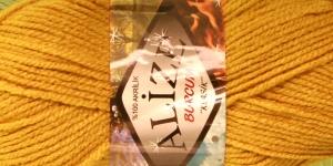 Akrüüllõng Burcum Klasik firmalt Alize, värv 02 sinepilkollane