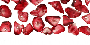 JF130 / Dyed Transparent Tumbled Quartz Beads; Wine Red / 3-10mm