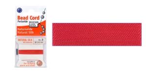 100% siidist niit, ø0,45 mm, 2 m, punane, Beadalon JH02S-REDXX-C