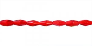 LN1161 12x6mm Punane, läbipaistev, pikuti auguga klaashelmes